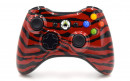 Xbox 360 Red Zebra Custom Modded Controller Small