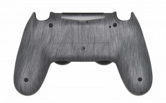 PS4 Controller Brushed Silver Back shell