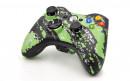 Xbox 360 Green Splatter Custom Modded Controller Small