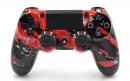 PS4 Pro Red Splatter Custom Modded Controller Small