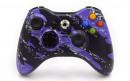 Xbox 360 Purple Splatter Custom Moddded Controller Small