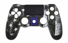 Custom - Independence Flag - Controller For PS4