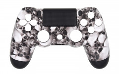 Hydro Dipped - Grey Skulls - Controller For PS4