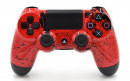 PS4 Pro Red Splash Custom Modded Controller Small