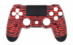 Hydro Dipped - Red Tiger - Controller For PS4