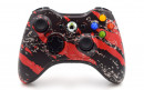 Xbox 360 Red Splatter Custom Modded Controller Small