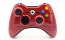 Xbox 360 Red Carbon Fiber Custom Modded Controller Small