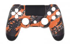 Hydro Dipped - Orange Splatter - Controller For PS4