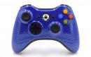 Xbox 360 Blue Carbon Fiber Custom Modded Controller Small