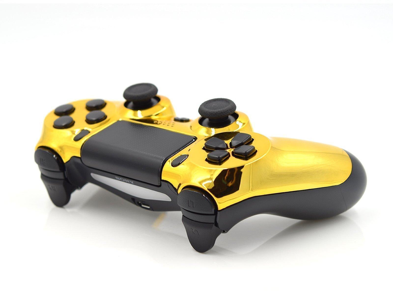 Chrome Gold PS4 Custom Controller