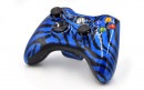 Xbox 360 Blue Zebra Custom Modded Controller Small
