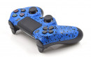 PS4 Rubberized Blue Custom Modded Controller Small