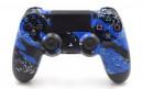 PS4 Pro Blue Splatter Custom Modded Controller Small