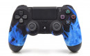 PS4 Pro Blue Flames Custom Modded Controller Small