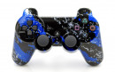 PS3 Blue Splatter Custom Modded Controller Small