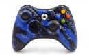 Xbox 360 Blue Splatter Custom Modded Controller Small