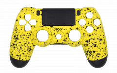 Custom - Rubberized Yellow - Controller For PS4