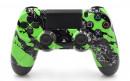 PS4 Green Splatter Custom Modded Controller Small