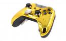 Custom Chrome Gold Xbox Elite Wireless Controller  — Front Side Three Quarters