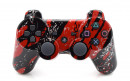 PS3 Red Splatter Custom Modded Controller Small